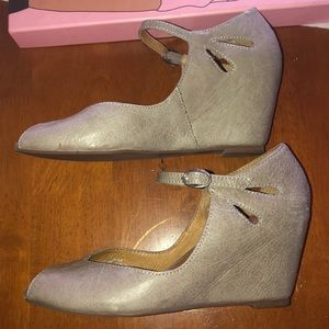 Jeffrey Campbell Regina Grey like new 6